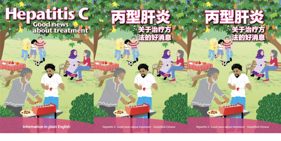 image of the three brochure covers featuing a bright illustration of people in the park
