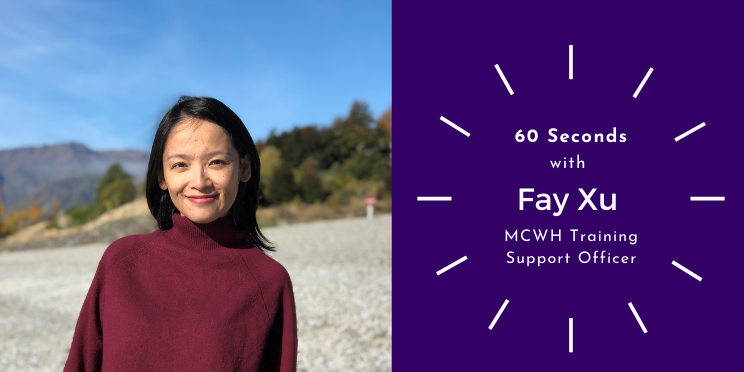 Portrait of Fay Xu smiling at the beach